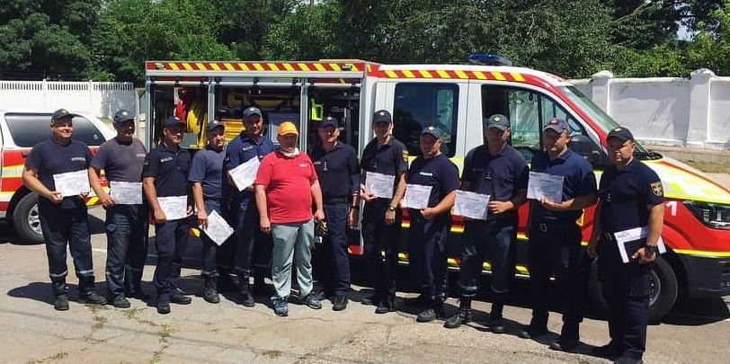 В г.Одесса спасатели повысили компетентность по применению гидравлического и пневматического оборудования «Weber Rescue Ukraine»